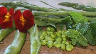 asparagus broadbeans and